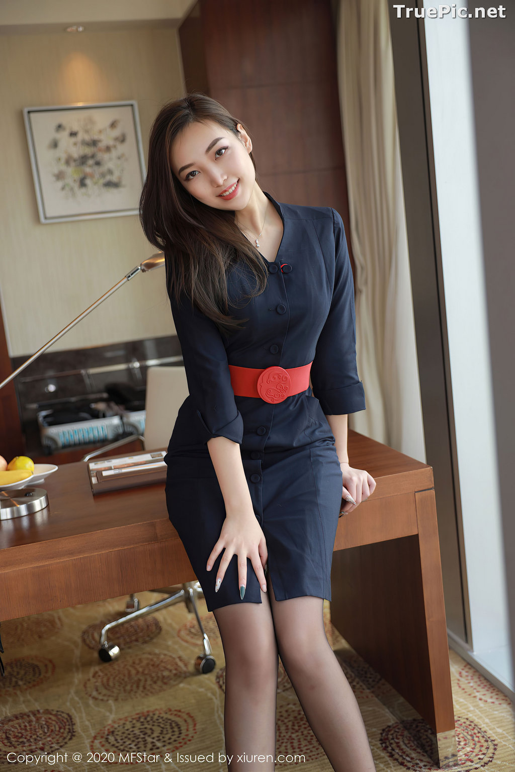 Image MFStar Vol.404 – Chinese Model – Zheng Ying Shan (郑颖姗) – Sexy Office Girl - TruePic.net - Picture-5