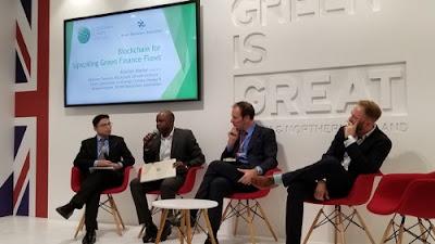 El Blockchain Climate Institute presentando en la COP24. Foto cortesía de BCI.