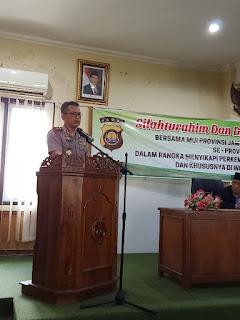 Kapolda Jambi Bersama MUI Se-provinsi Jambi Gelar Silahturahmi Dan Bahas Pilkada Serentak