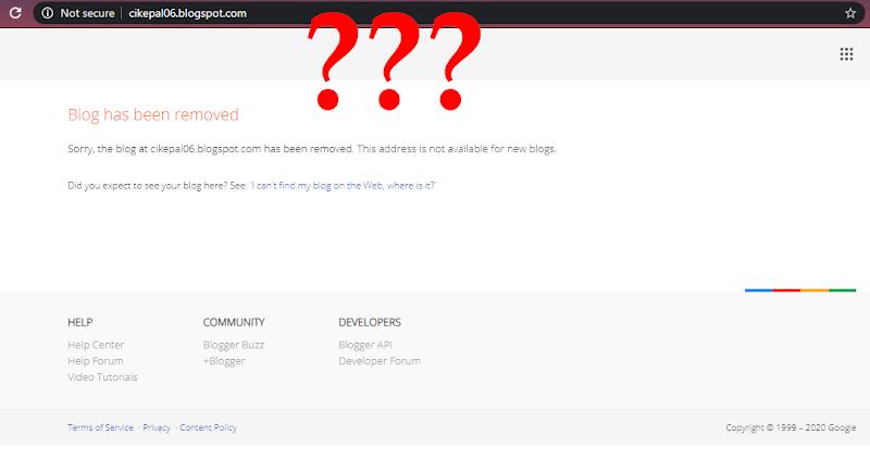 Betul ke Blog Cik Epal dipadam? Mana Blog Blogger Cik Epal : cikepal06.blogspot.com ?