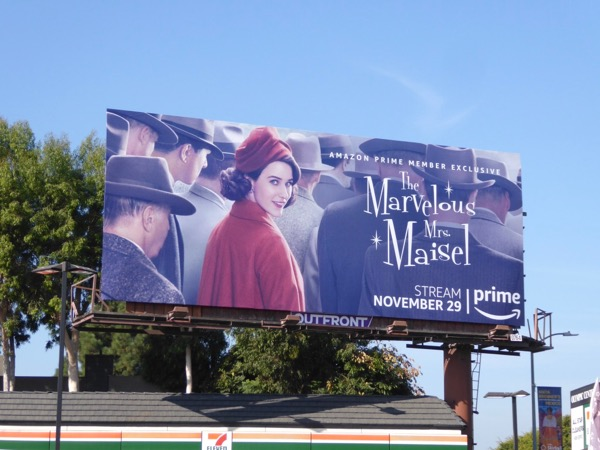 Marvelous Mrs Maisel Amazon billboard