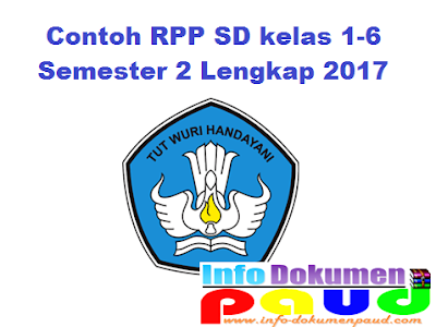 Download Contoh RPP SD kelas 1-6 Semester 2 Lengkap 2017