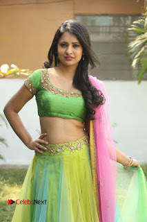 Actress Nikitha Bisht Stills in Lehenga Choli at Pochampally Ikat Art Mela Launch  0231.JPG