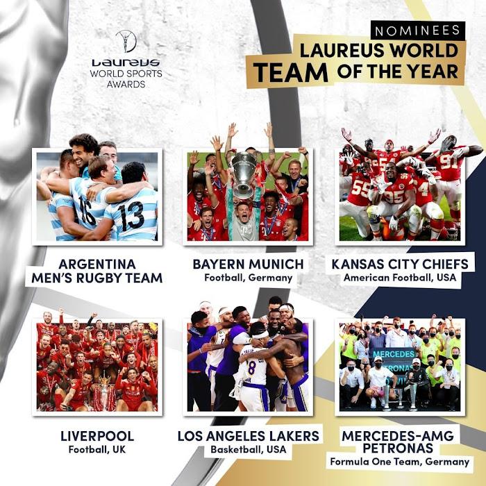 Los Pumas nominados a mejor equipo del 2020 #LaureusWorldSportsAwards