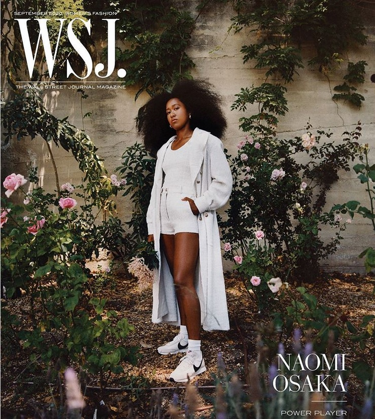 Naomi Osaka on September 2020 cover of Wall Street Journal Magazine