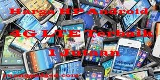 Daftar HP 4G Terbaik Harga 1 Jutaan