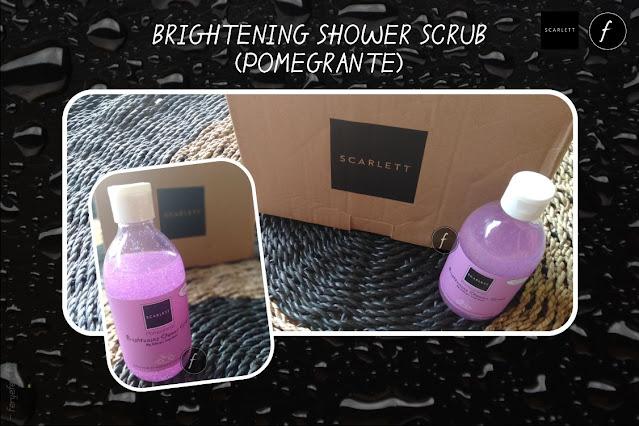 Brightening Shower Scrub (Pomegrante) Scarlett
