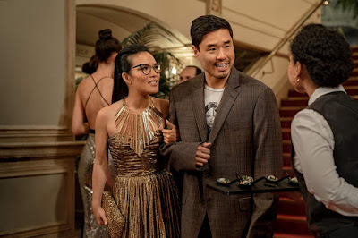 Randall Park escorts Ali Wong to a private event in San Francisco, CA in Netflix's original comedy movie Always Be My Maybe