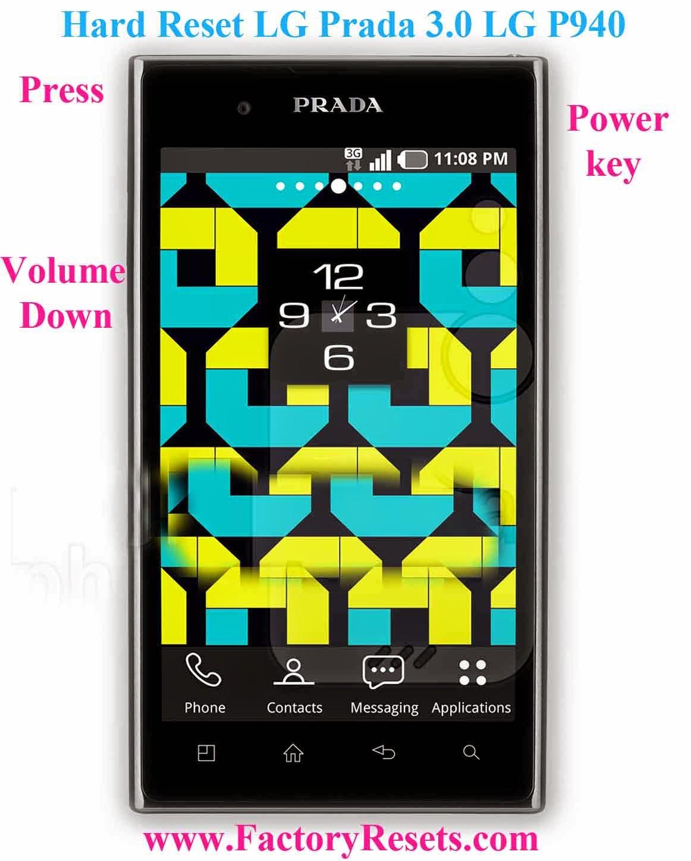 Hard Reset LG Prada 3.0 LG P940