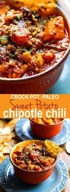 Crock Pot Sweet Potato Chipotle Chili