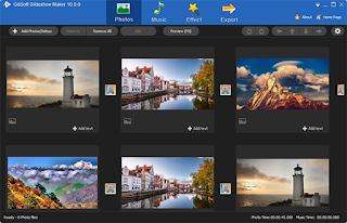 تنزيل برنامج تركيب الصور على الاغاني GiliSoft SlideShow Movie Creator
