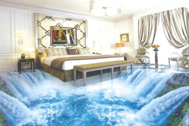 3D Floor Tiles for Bedroom