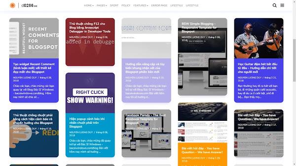 Chia sẻ theme Nemesis cho Blogger | Đã chỉnh sửa