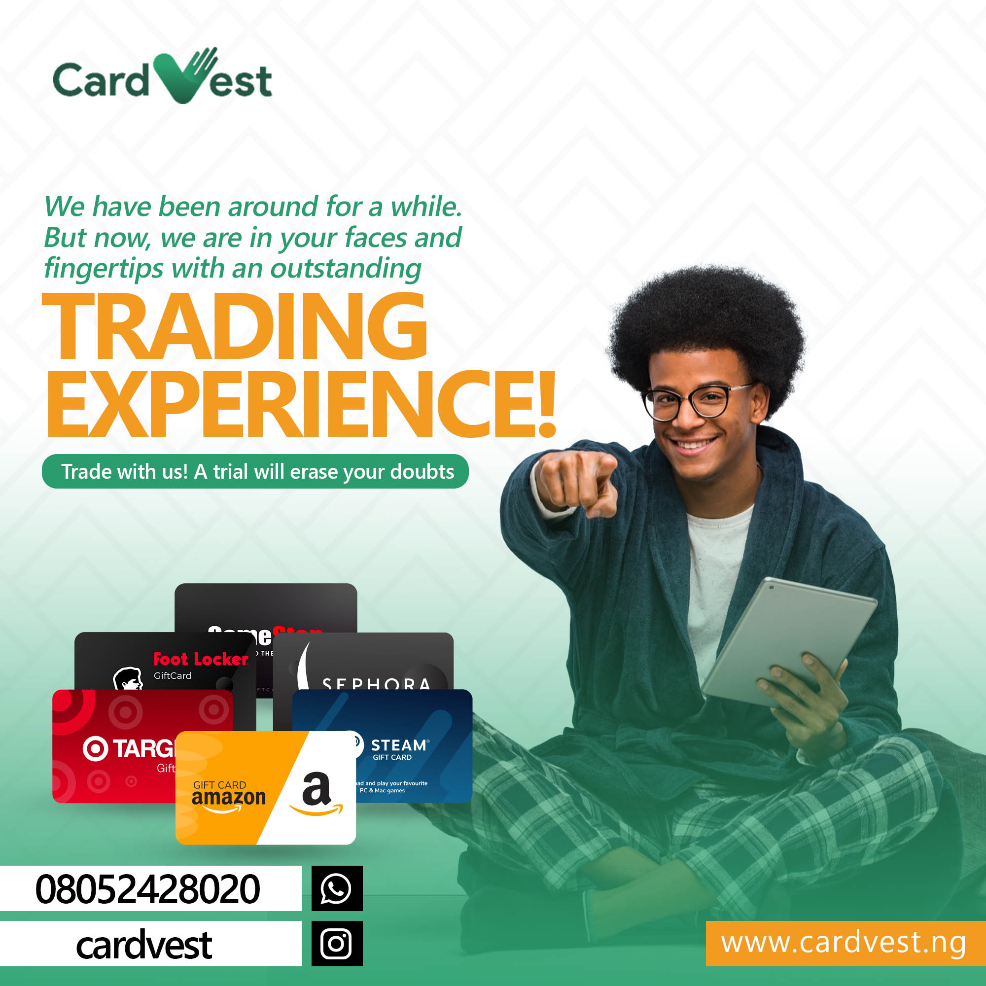Redeem Gift Cards for Cash in Few Minutes- Sell Gift Cards in Nigeria