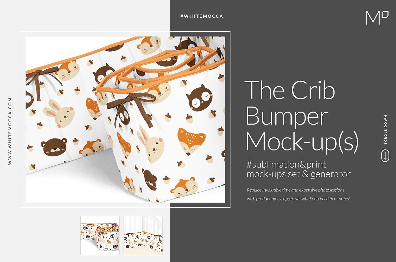 Crib Bumper Mockups