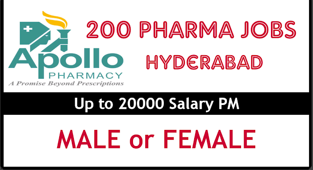 Apollo Pharmacy is hiring Pharmacists and Assistants Hyderabad
