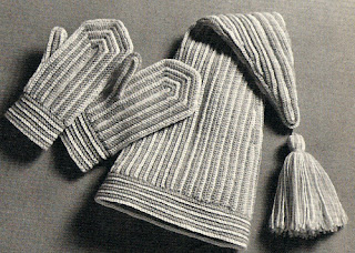 Crocheted Stocking Cap Pattern with Mittens