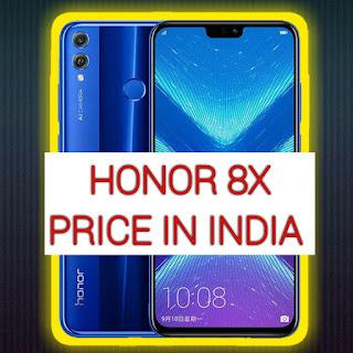 Honor 8x price in India