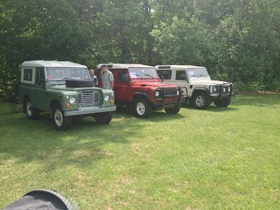 Land Rover SUVs at British Car Show