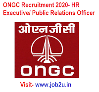 ONGC Recruitment 2020, HR Executive, Public Relations Officer