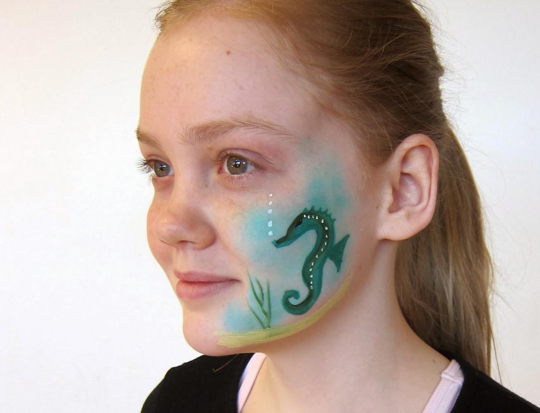 Vandsminke søhest ansigtsmaling