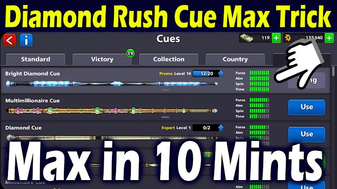 Diamond Rush Cue Max Trick Download Virtual Backup Apk And 2 Accounts 2020 No Root