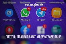 Contoh Undangan Rapat via Whatsapp Grup