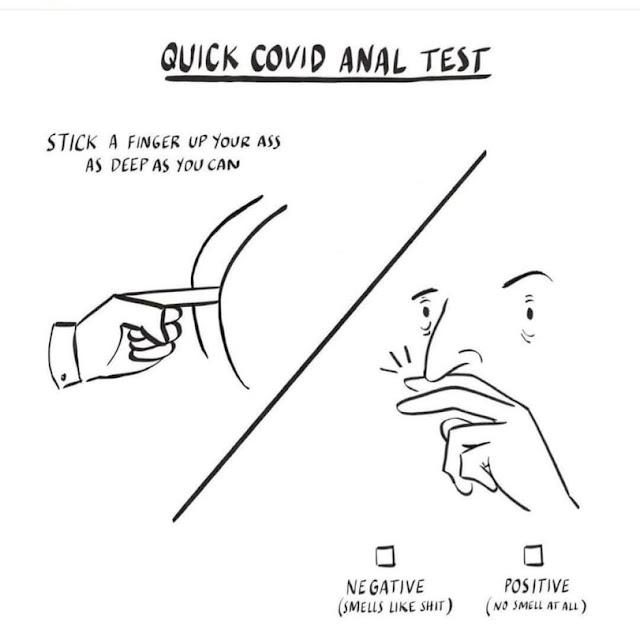 Covid-19 Testmethode - witzige Spassbilder