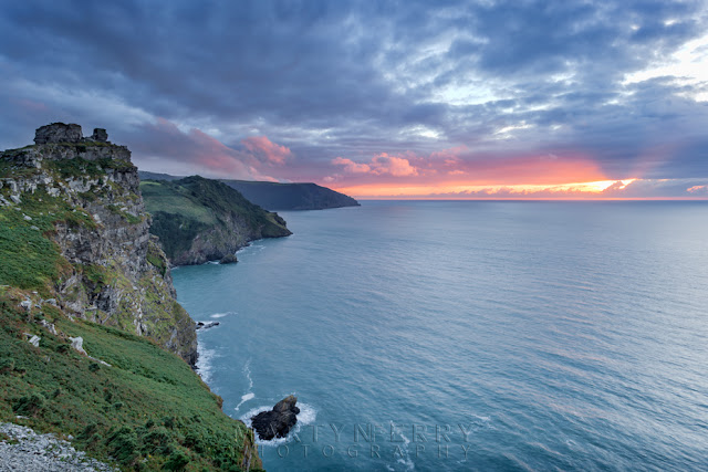 Exmoor National Park Valley of Rocks at sunset by Martyn Ferry Photography