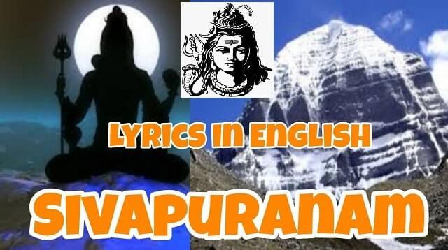 Sivapuranam Lyrics in English