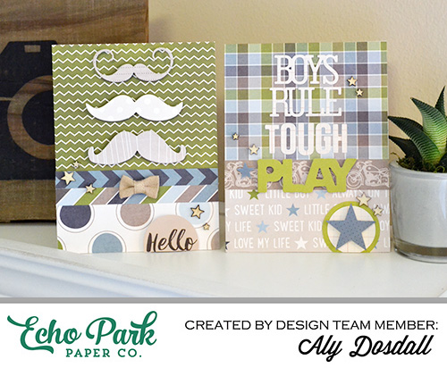 great tips and inspiration for creating masculine cards and other paper crafts projects for boys. #AlyDosdall
