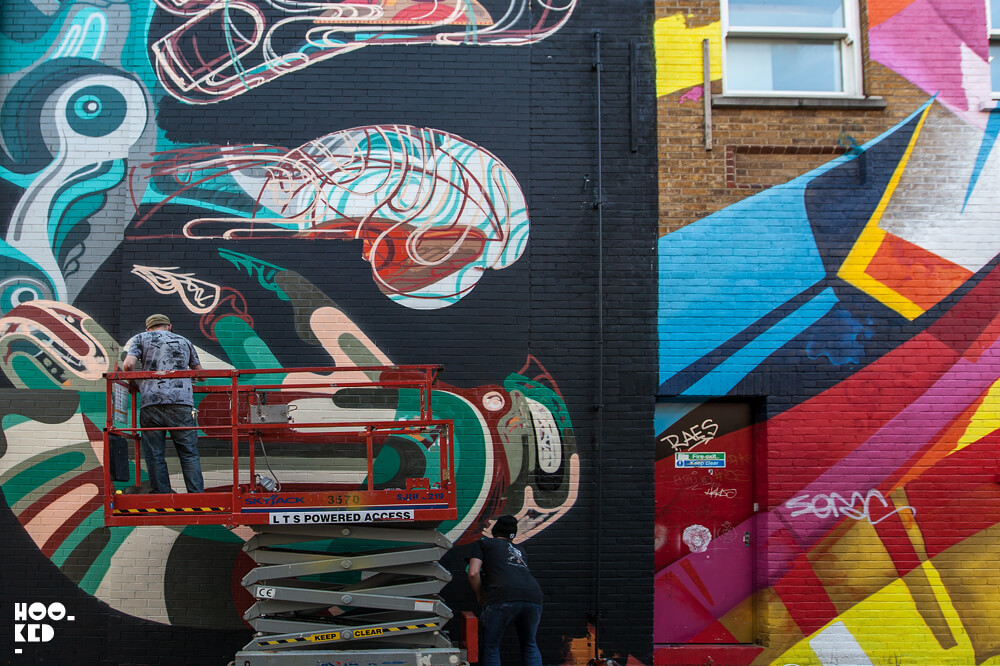 James Reka's Keep Calm And Carry On London Mural