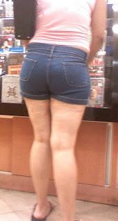 Piernas sexys señora shorts mezclilla apretados