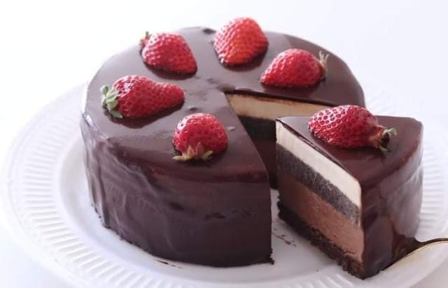 Receita Cheesecake de Chocolate