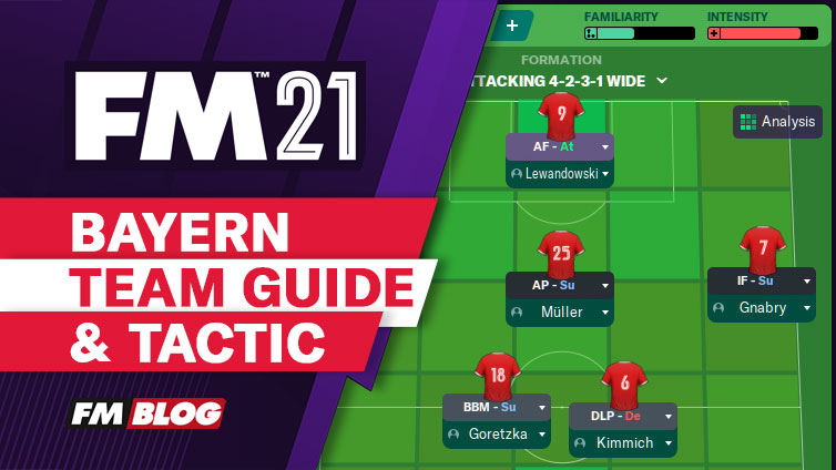 Football Manager 2021 Bayern Munich - 4-2-3-1 Tactic | Team Guide | FM21