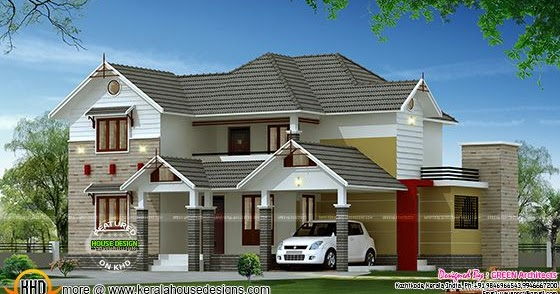 2200 Square Feet 4 Bedroom Home Kerala Home Design And Floor Plans