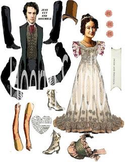 Шарнирные бумажные куклы Дарси и Элизабет