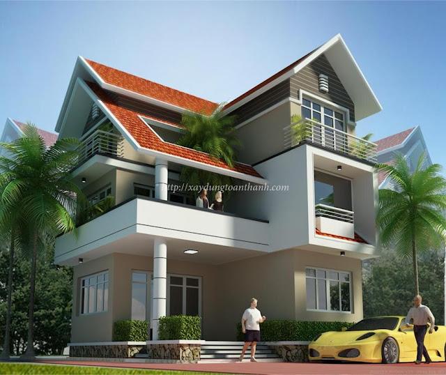 xây nhà biệt thự kiểu châu âu