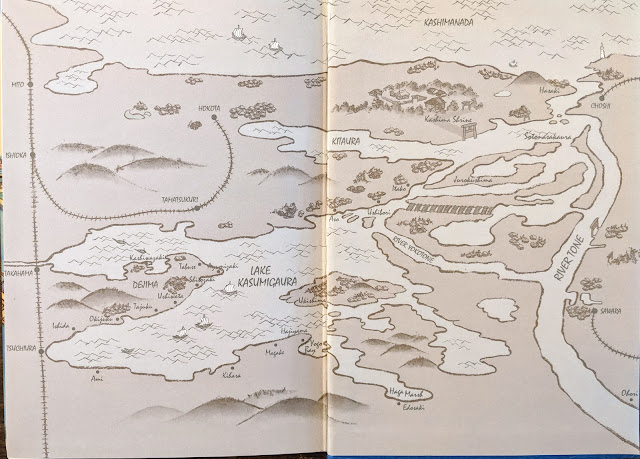 Map of the Lake Kasumigaura area from the frontispiece.