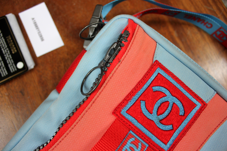 56371e1046ec22 Verish Bags: Chanel Small Sport Line Blue Waist Bag & Sling Bag