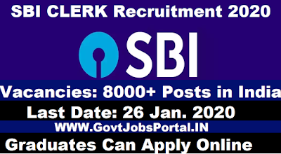 SBI Clerk 2020 Recruitment