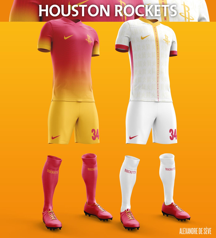 Designer cria camisas de futebol para equipes de basquete da NBA ... 7a2c2302a90be