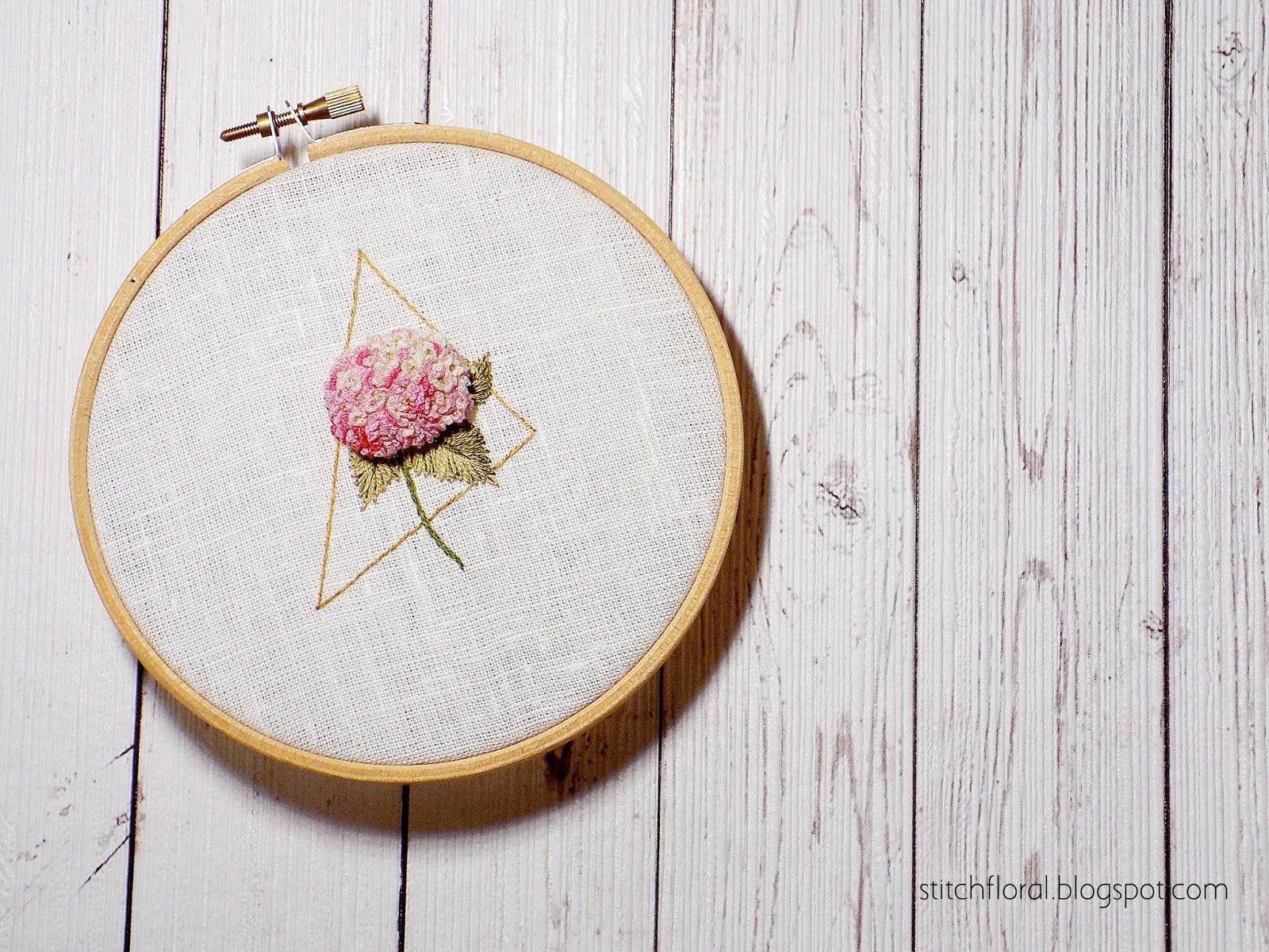 Hydrangea embroidery tutorial