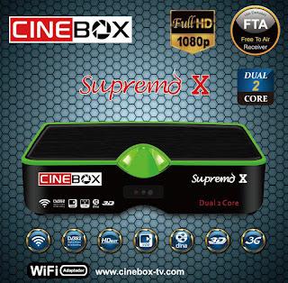 ATUALIZAÇÃO CINEBOX SUPREMO X DUAL CORE - 30/04/2016