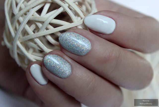 Semilac Strong White 001 manicure karnawałowy