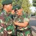 Danyonif PR 305/Tengkorak Pimpin Upacara Korp Raport Kenaikan Pangkat