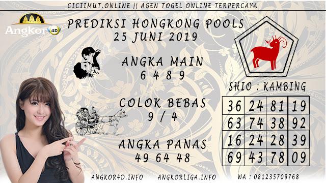 PREDIKSI HONGKONG POOLS 25 JUNI 2019