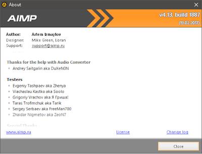Pemutar musik terbaik untuk dikala ini menurut  AIMP v4.13 build 1887 Terbaru
