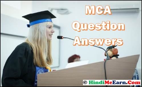 MCA Question, Answers