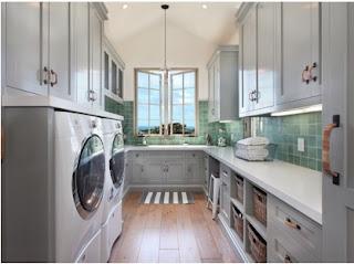 cómo organizar mi área de lavandería, estantes para área de lavandería